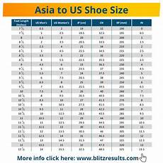 Asian Shoe Size Chart To Uk Asian Size Chart Asian To Us China Japan Korea Clothes