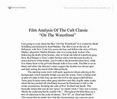 Movie Analysis Essay Example Film Analysis Of The Cult Classic On The Waterfront