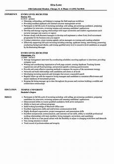 College Recruiter Resume Entry Level Recruiter Resume Samples Velvet Jobs