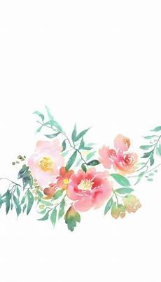 Watercolor Flower Wallpaper Iphone by Watercolor Wallpaper Set Illustrations Floral 1