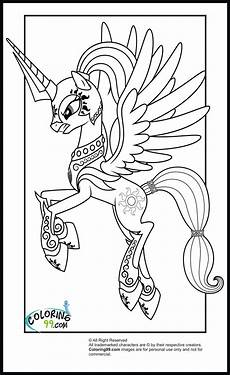 my pony princess celestia coloring pages minister