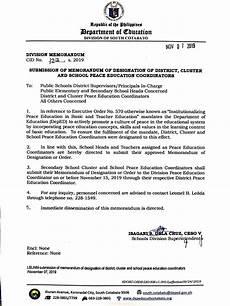 Cluster Designation Dm Cid No 123 Of Designation Of District