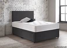 suede or leather divan bed set memory mattress