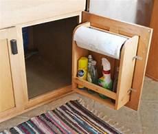 how to make kitchen cabinet door organizer paper towel