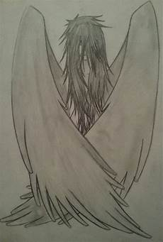 Drawing Of Angel Wings Angel Wings Folded By Dannymacuilliam On Deviantart