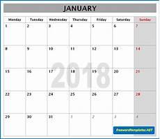 Monthly Word Calendar 2018 Calendars