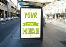 Bus Stop Poster Template Outdoor Bus Stop Poster Mockup Two Pitchstock