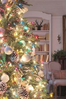 Christmas Tree Decorating Ideas With Multicolor Lights Wonderful Decorating Idea For The Christmas Tree White