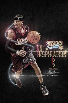 allen iverson iphone wallpaper artwork rise sports