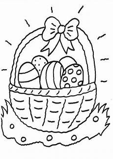 Malvorlage Ostern Zum Ausdrucken Kostenlose Malvorlage Ostern Ostereierkorb Zum Ausmalen