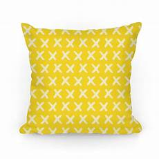 Yellow Accent Pillows For Sofa Png Image by Yellow Criss Cross Pattern Throw Pillow Human