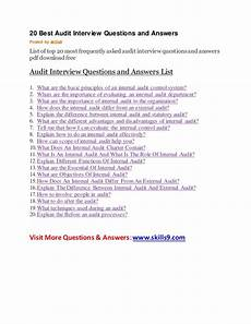 Frequently Asked Interview Questions And Answers 20 Best Audit Interview Questions And Answers