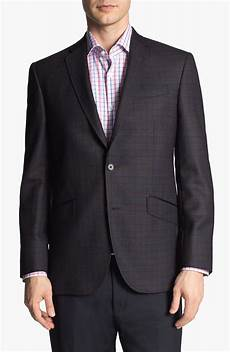 sports coats for big and baker ted baker jones trim fit plaid sportcoat in black for
