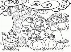 Ausmalbilder Herbst Apfel Fall Apples And Pumpkins Coloring Pages For Seasons