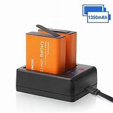Rayovac Rechargeable Battery Charger Blue Light Meaning 2 X 1350mah Rechargeable Camkong Action Camera Battery