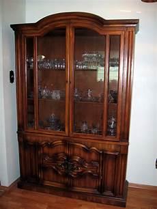 300 set solid oak wood china cabinet and side serving