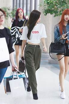 blackpink s fashion makes an airport look like a runway