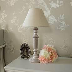 Beige Light Shade Wooden Table Bedside Lamp With Beige Linen Light Shade