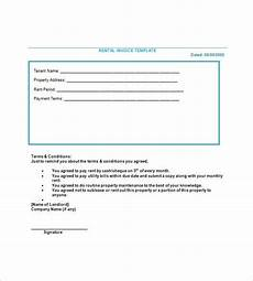 Tenant Invoice Lease Invoice Template 15 Free Word Excel Pdf Format