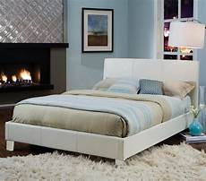 new york white upholstered bed by standard lewis