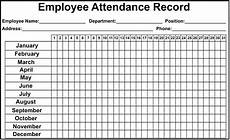 Sample Attendance Sheets Daily Monthly Employee Attendance Sheet Template Free
