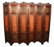 vintage style 6 panels screen room divider