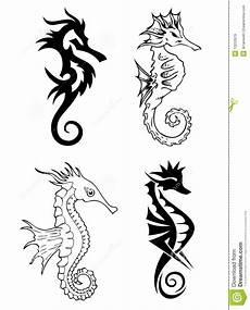 Seahorse Designs Black Seahorse Designs Black Sea Horse Design