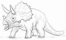 ausmalbilder dinosaurier triceratops kostenlose