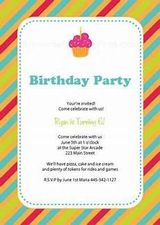 Create Printable Birthday Invitations Free Printable Birthday Party Invitation Templates