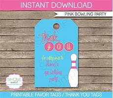 Party Favor Tag Bowling Birthday Party Favor Tags Thank You Tags