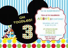 Mickey Mouse Party Invitations Free Invitation Ideas Mickey Mouse