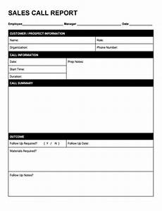Sales Call Reports Templates Free Free Sales Call Reporting Template Pdf Docx Amp Auto Crm