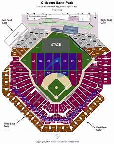 Citizens Bank Seating Chart Citizens Bank Park Seating Chart Citizens Bank Park