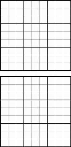 Blank Grid Template Printable Sudoku Grids Have Fun Anytime