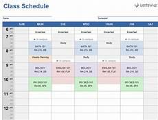 College Class Schedule Maker Template Homework Schedule Generator