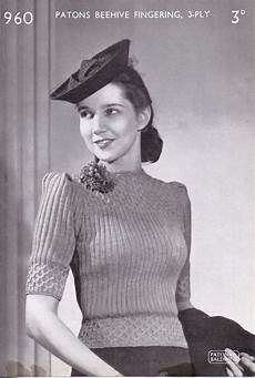 free vintage knitting pattern patons no 960 the