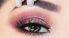 the easiest glitter eyeshadow makeup tutorial for
