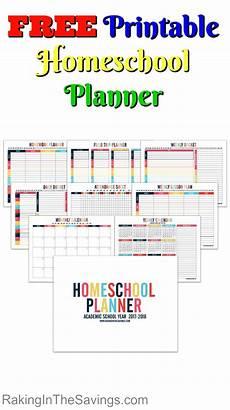 Free Printable School Planner Free Printable Homeschool Planner Raking In The Savings