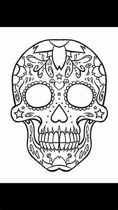 Ausmalbilder Erwachsene Totenkopf Pin Auf Tattoos
