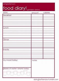 Food Tracking Log Food Diary Printable Healthy Living Pinterest Cases