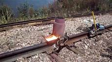 Thermite Welding Railroad Thermite Welding Near The Mississippi River Youtube