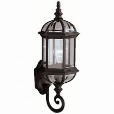 Kichler Outdoor Wall Light Kichler Outdoor Wall Light With Clear Glass In Black