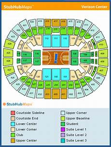 Washington Wizards Seating Chart With Rows Verizon Center Seating Chart Pictures Directions And