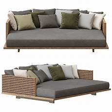 Sofa Style Daybed 3d Image by Minotti Quadrado Outdoor Daybed Sofa 3d Model Cgtrader