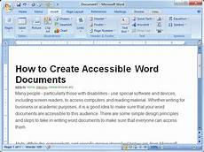 Sample Word Document How To Create Accessible Word Documents 8 Steps With