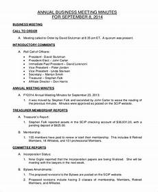 Minutes For A Meeting Business Minute Template 10 Free Word Pdf Documents