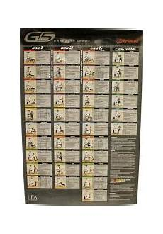 Parabody Home Gym Workout Chart Wall Chart G5 3029158 Fitness And Exercise Equipment