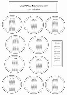 Downloadable Seating Chart Free Table Seating Chart Template Table Seating Chart
