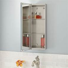 showcase series stainless steel medicine cabinet with