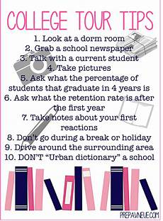 Tips For Starting College College Tour Tips Prep Avenue